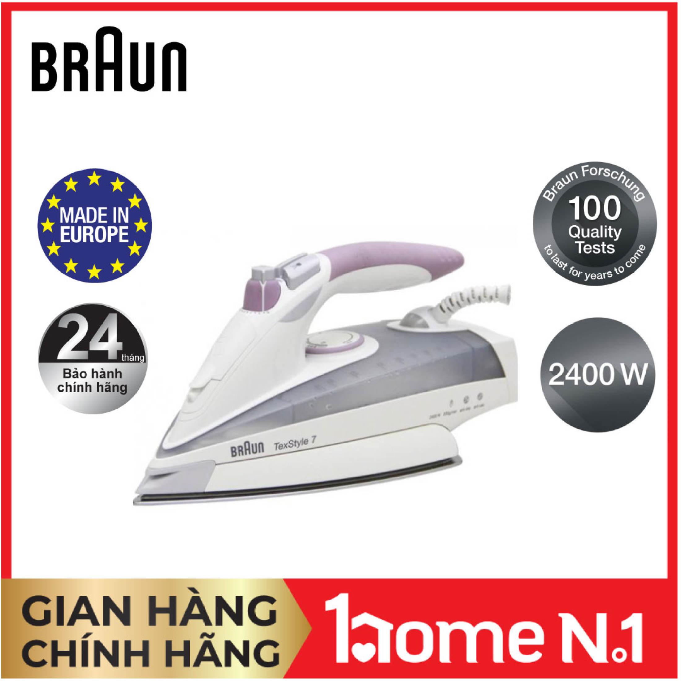 Bàn ủi hơi nước Braun TS755EA - Công suất 2400W - Brand Partner Vietnam